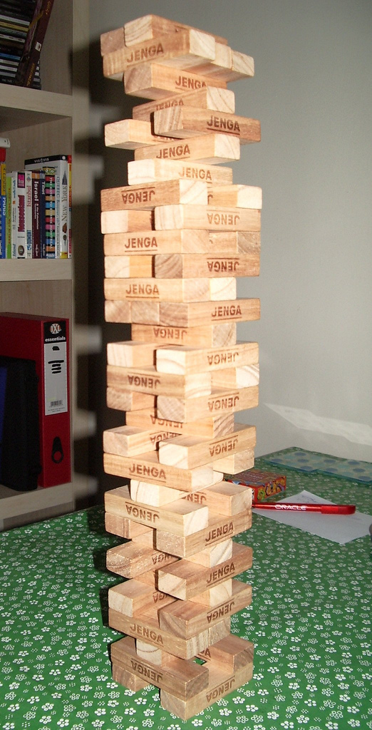 Picture of a Jenga tower